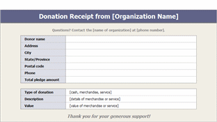 Donation Receipts Templates