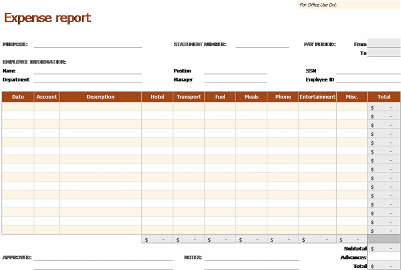 Expense Report Corporate