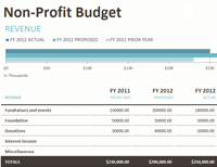 Non-profit Budget W/fundraising