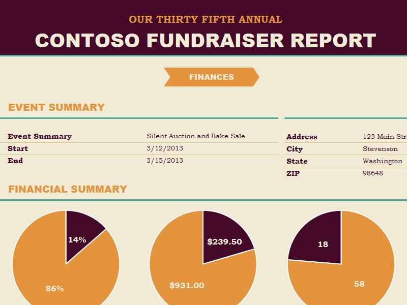 Non-profit Fundraiser Report