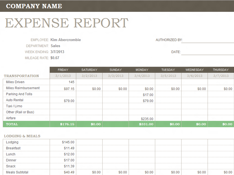 weekly expense reports thevillas co