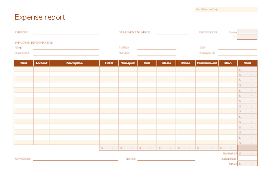 Download Excel-2007 Accurate And Uniform Expense Report