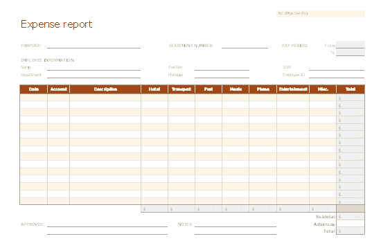 Download Excel-2010 Accurate And Uniform Expense Report