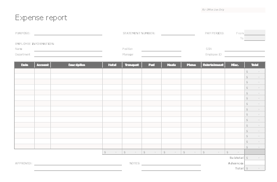 Download Excel-2013 Accurate And Uniform Expense Report