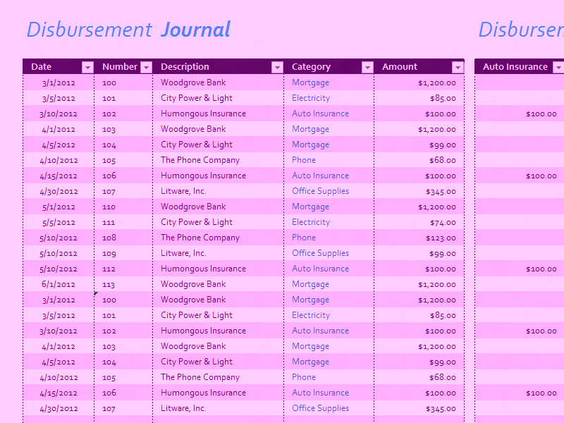 Download Microsoft Excel Disbursement Journal