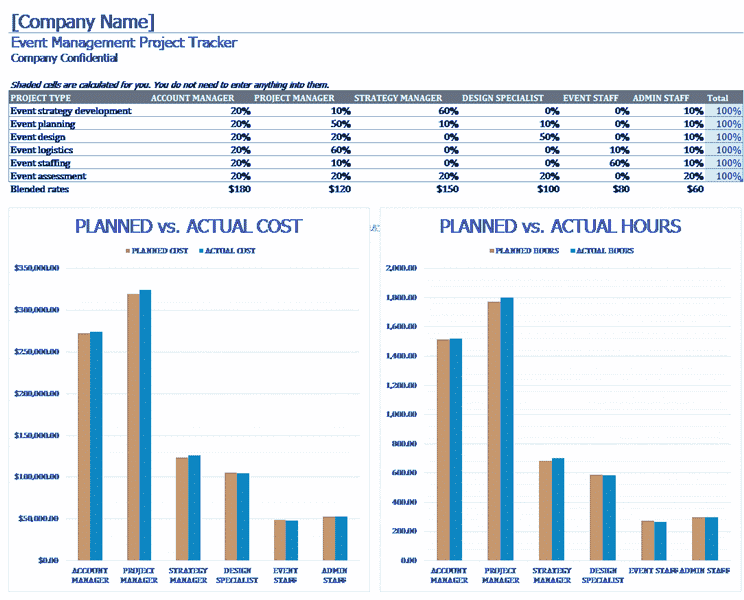 Download Excel-2013 Event Planning Tracker