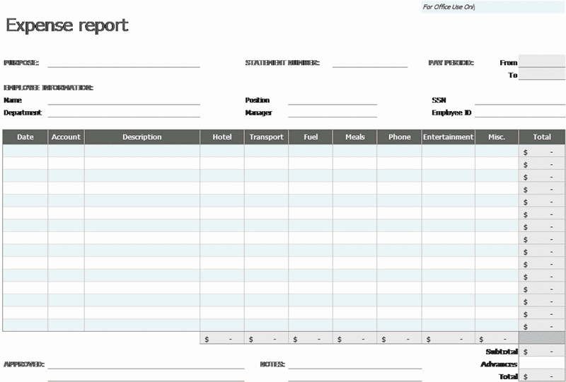 Excel-2003 Expense Report