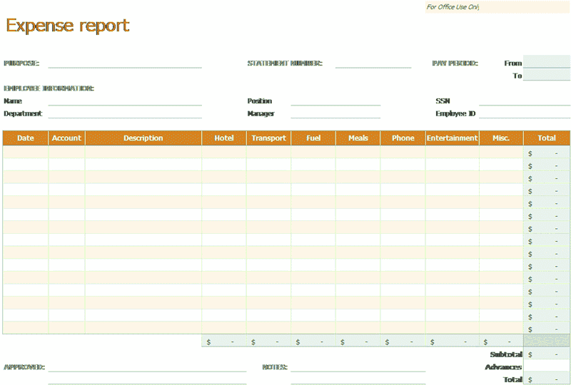 Excel-2010 Expense Report