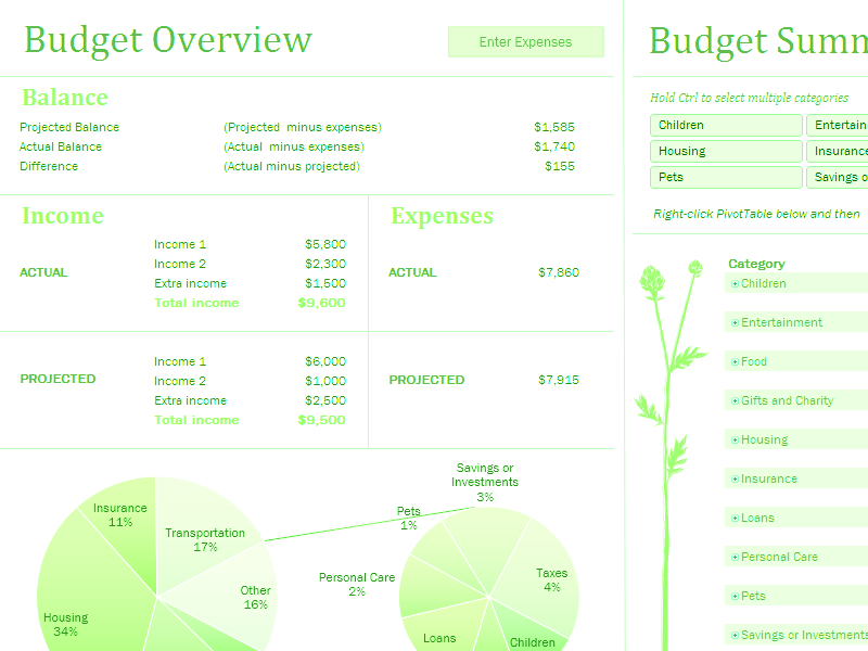 Download Excel-2010 Monthly Family Budget