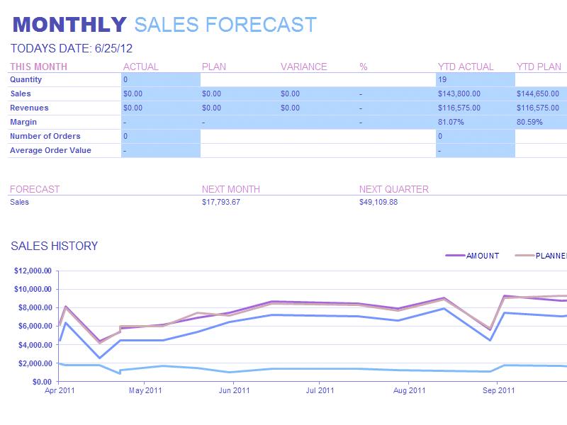 Excel-2013 Monthly Sales Report