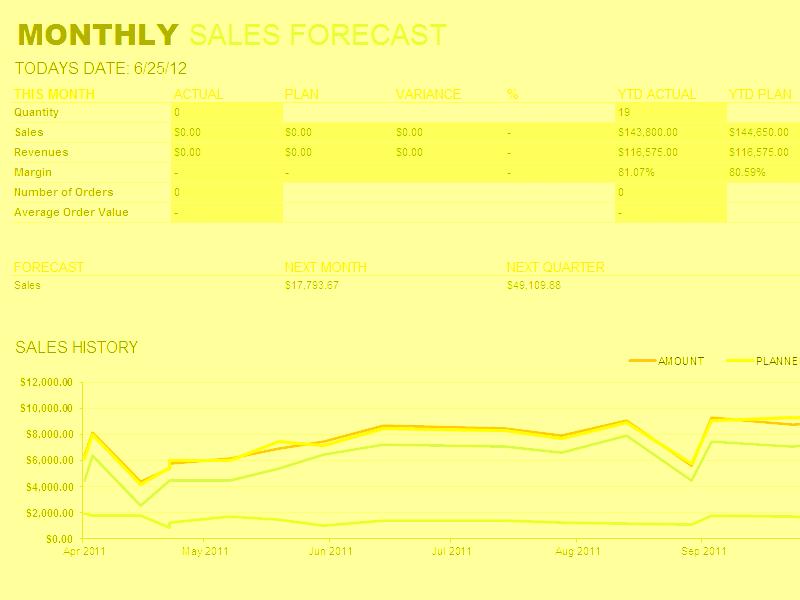 Excel-2016 Monthly Sales Report